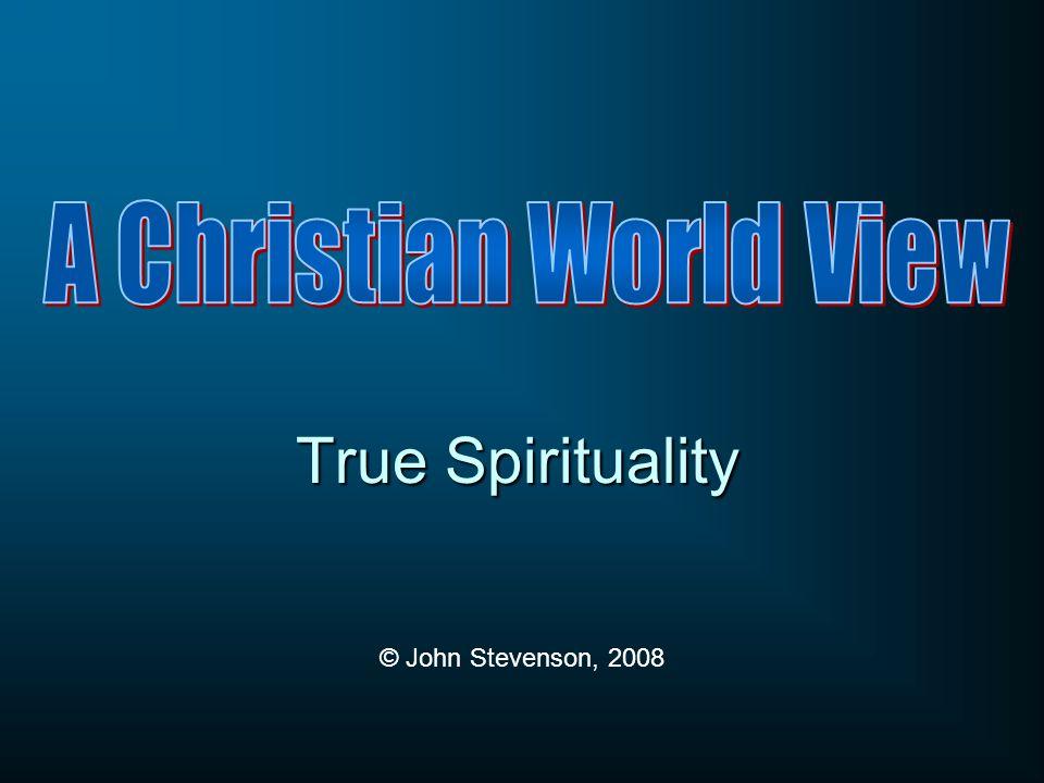 True Spirituality © John Stevenson, 2008