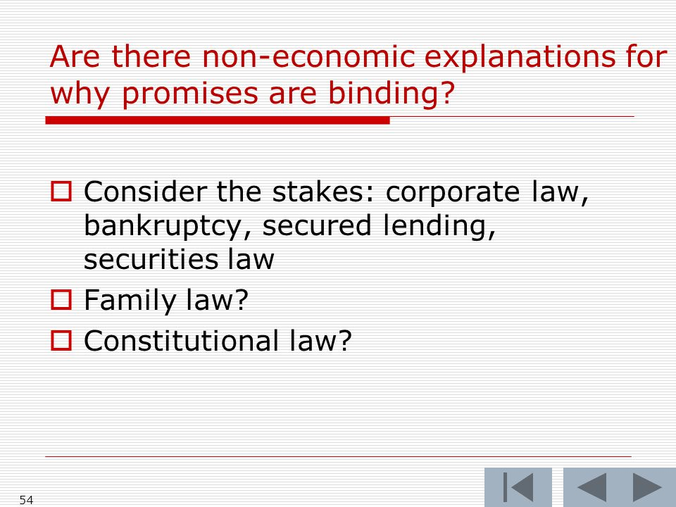 Are there non-economic explanations for why promises are binding.
