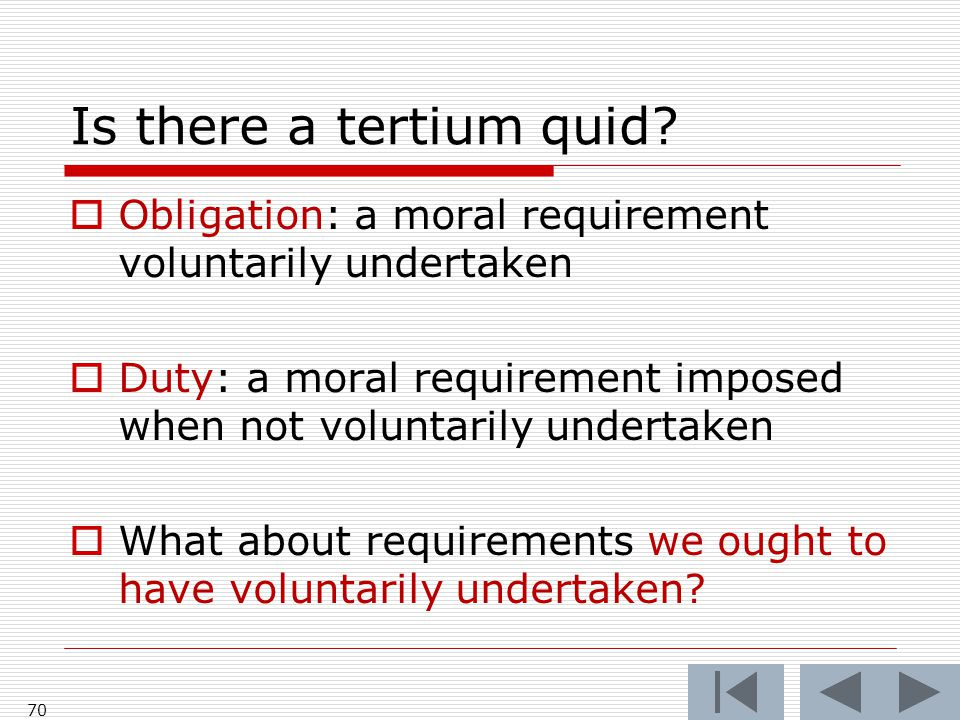 Is there a tertium quid.