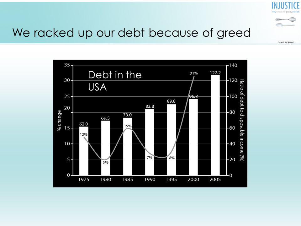 Outstanding consumer debt as a proportion of disposable income, USA 1975-2005.