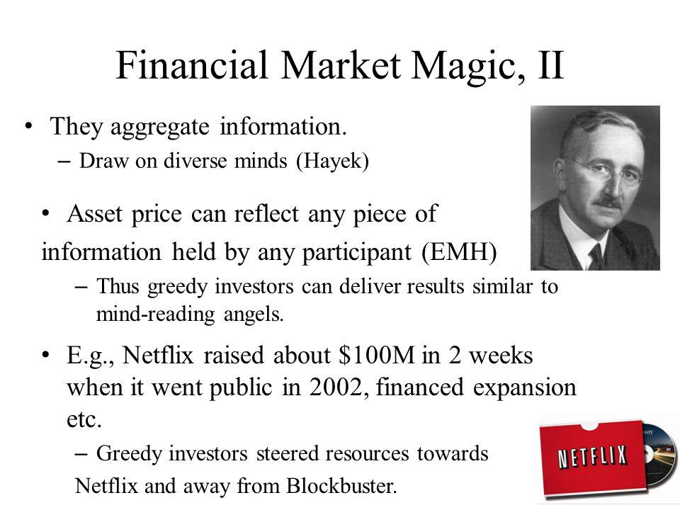 Financial Market Magic, I Markets scale up beautifully.