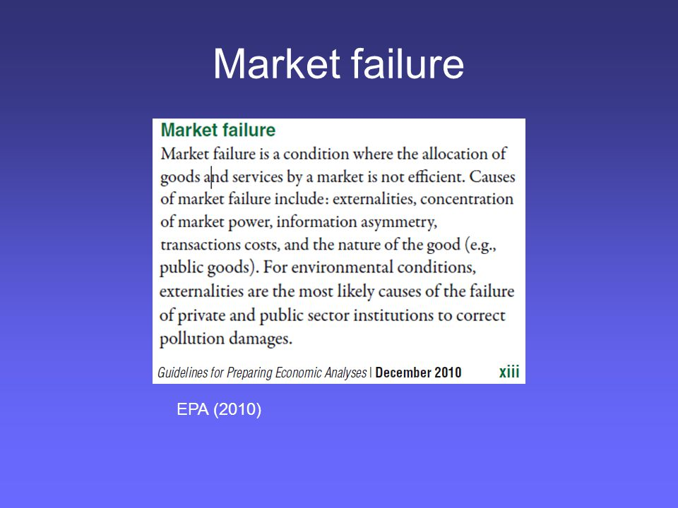 Market failure EPA (2010)