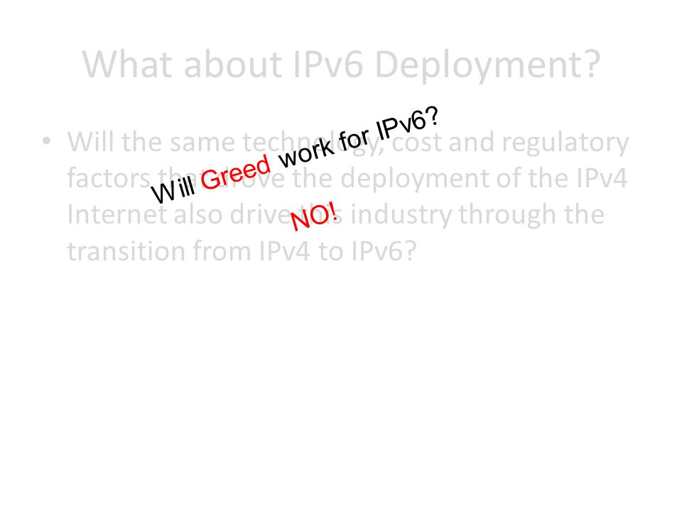 What about IPv6 Deployment.