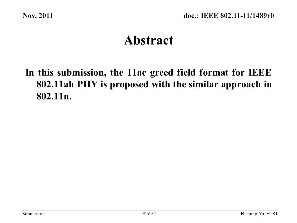 doc.: IEEE 802.11-11/1489r0 Submission Nov.