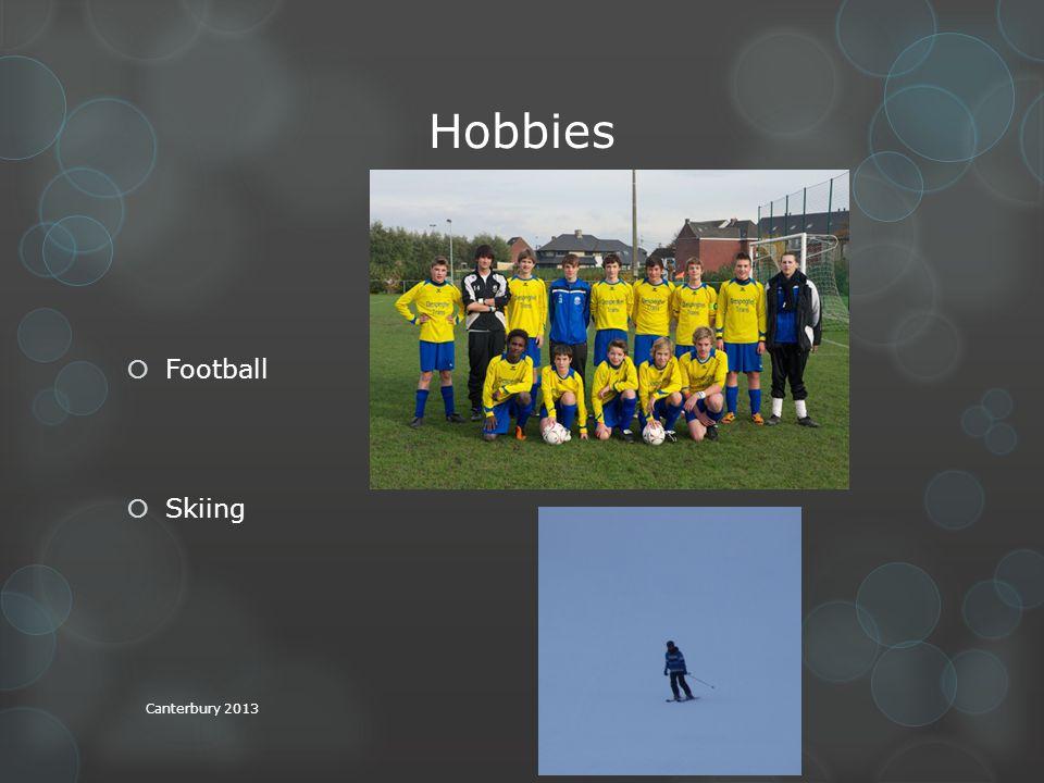 Hobbies FFootball SSkiing Canterbury 2013