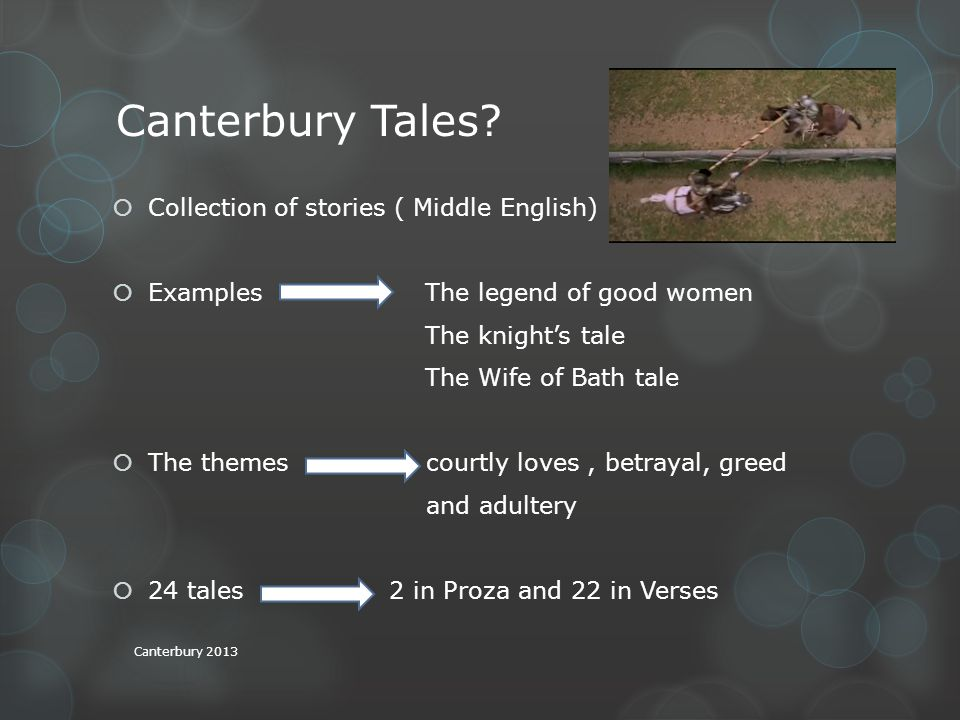Canterbury Tales.
