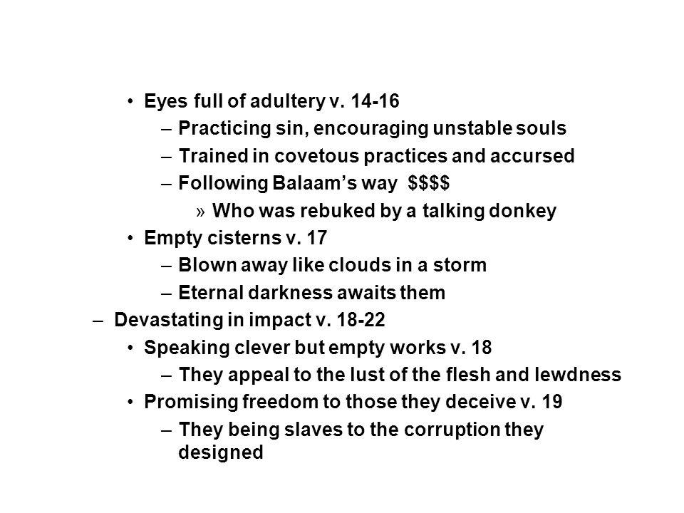 Eyes full of adultery v.
