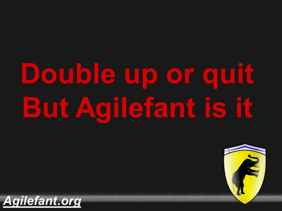 .orgAgilefant Double up or quit But Agilefant is it