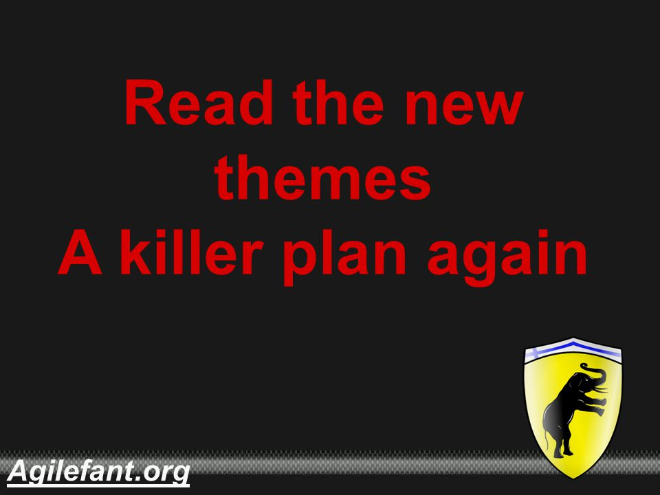 .orgAgilefant Read the new themes A killer plan again