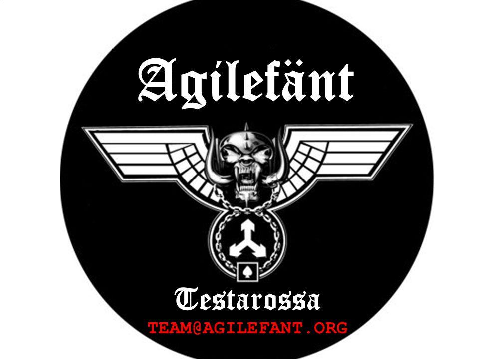 Agilefänt Testarossa TEAM@AGILEFANT.ORG