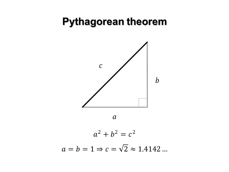 Pythagorean theorem a b c