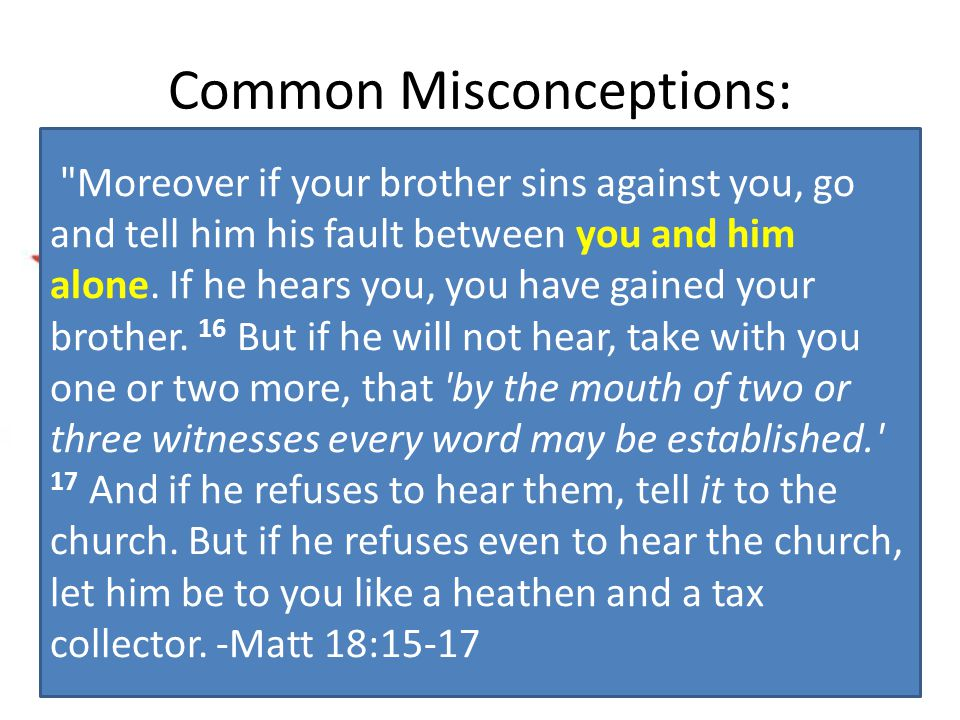 Common Misconceptions: I don't want to gossip, I just wanted to let you know (or thought you could help).