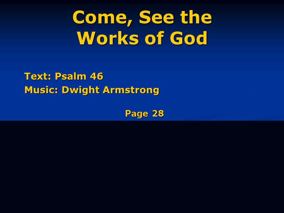 Be still, know I am God Most High; o're the na-tions I will reign. Verse 3 of 3