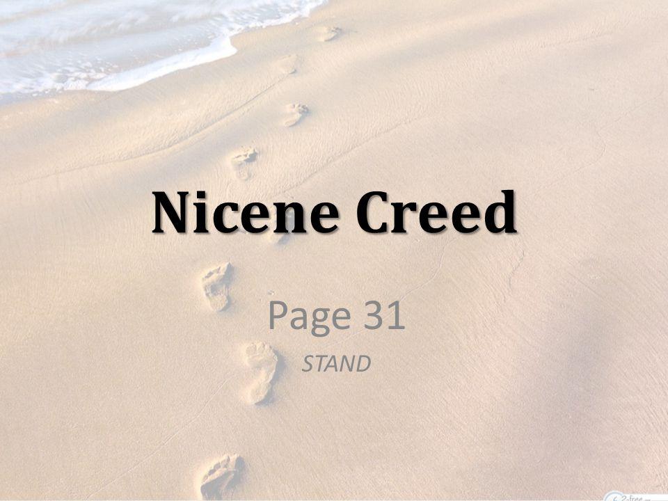 Nicene Creed Page 31 STAND
