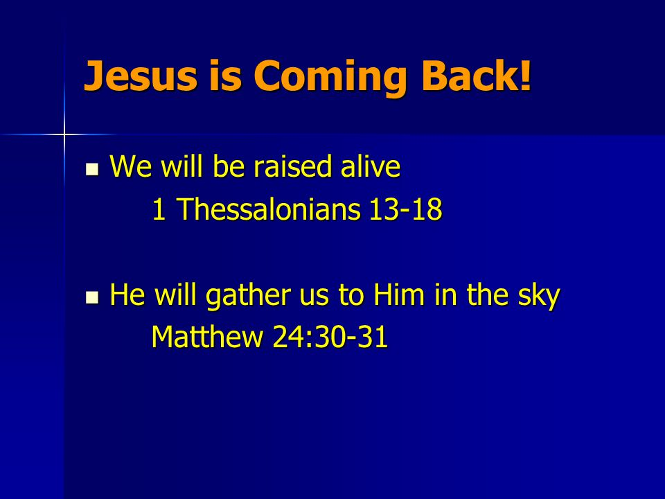 Jesus is Coming Back.