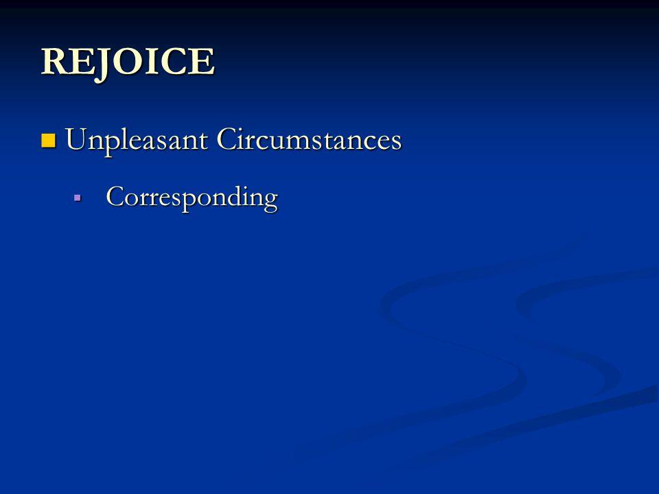 REJOICE  Corresponding