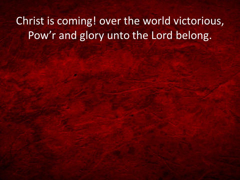 Rejoice, Rejoice! Let every tongue rejoice! One heart, one voice; O Church of Christ, rejoice!
