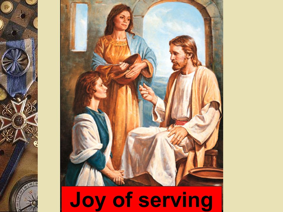 Joy of serving