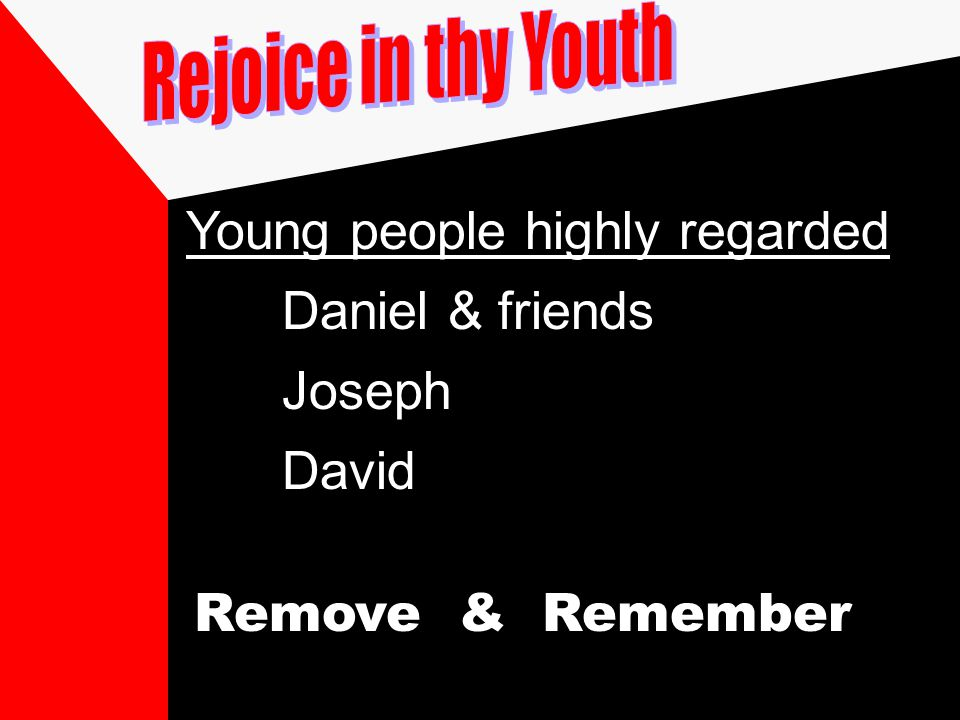 Young people highly regarded Daniel & friends Joseph David Remove & Remember