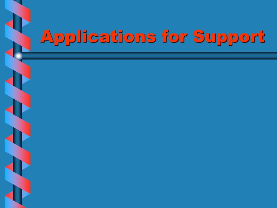 Applications for Support