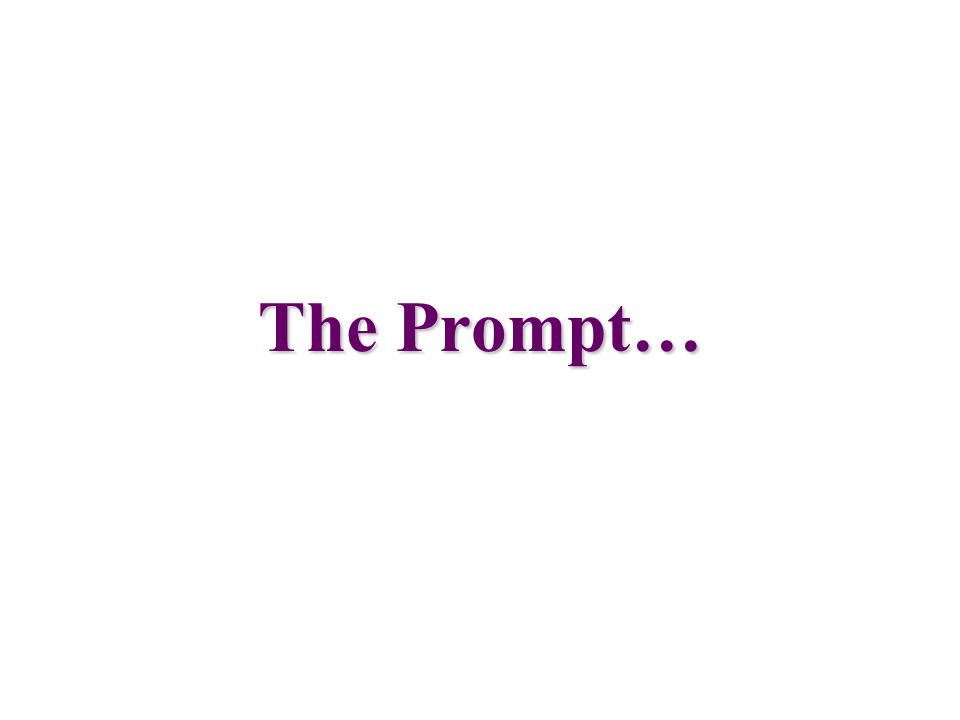 The Prompt…