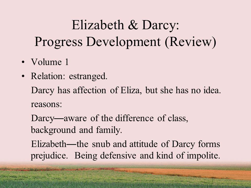 Elizabeth & Darcy: Progress Development (Review) Volume 1 Relation: estranged.