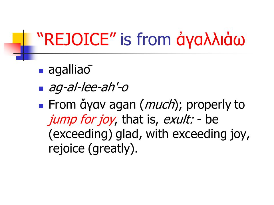 Q: Why Can We Rejoice.A: Because JESUS DID it ALL.