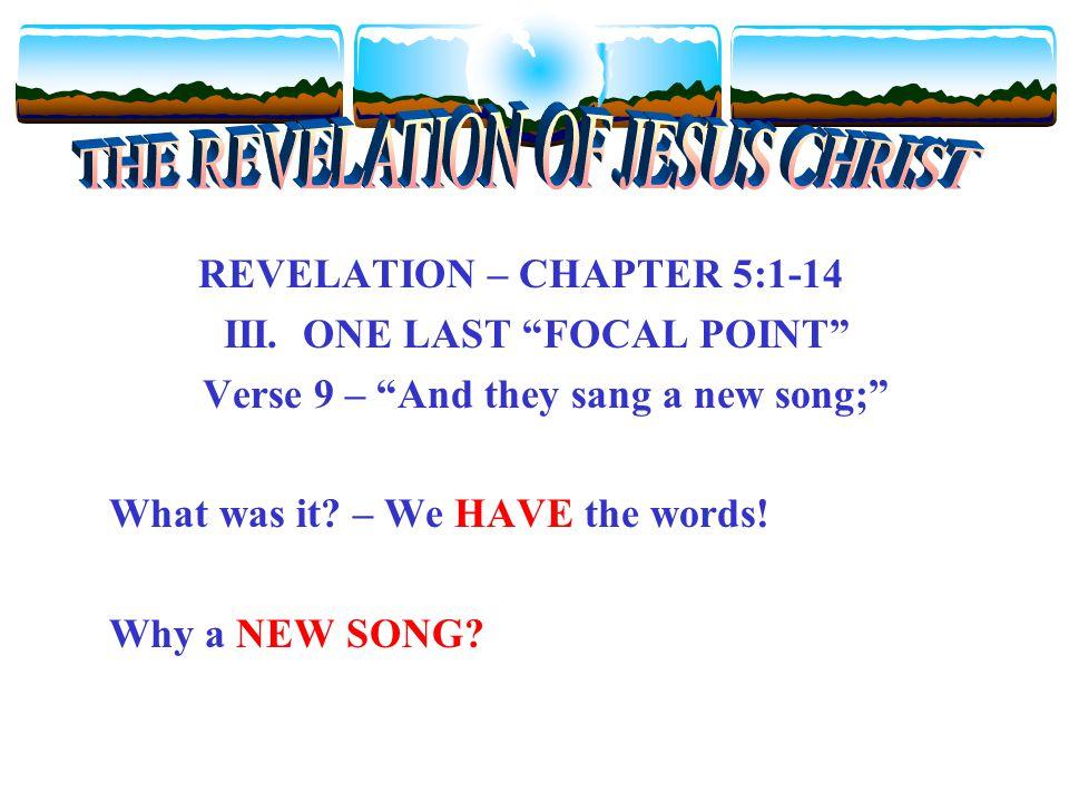 REVELATION – CHAPTER 5:1-14 III.