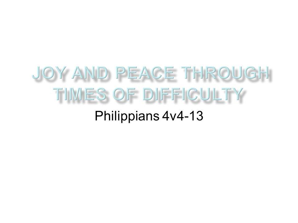 Philippians 4v4-13