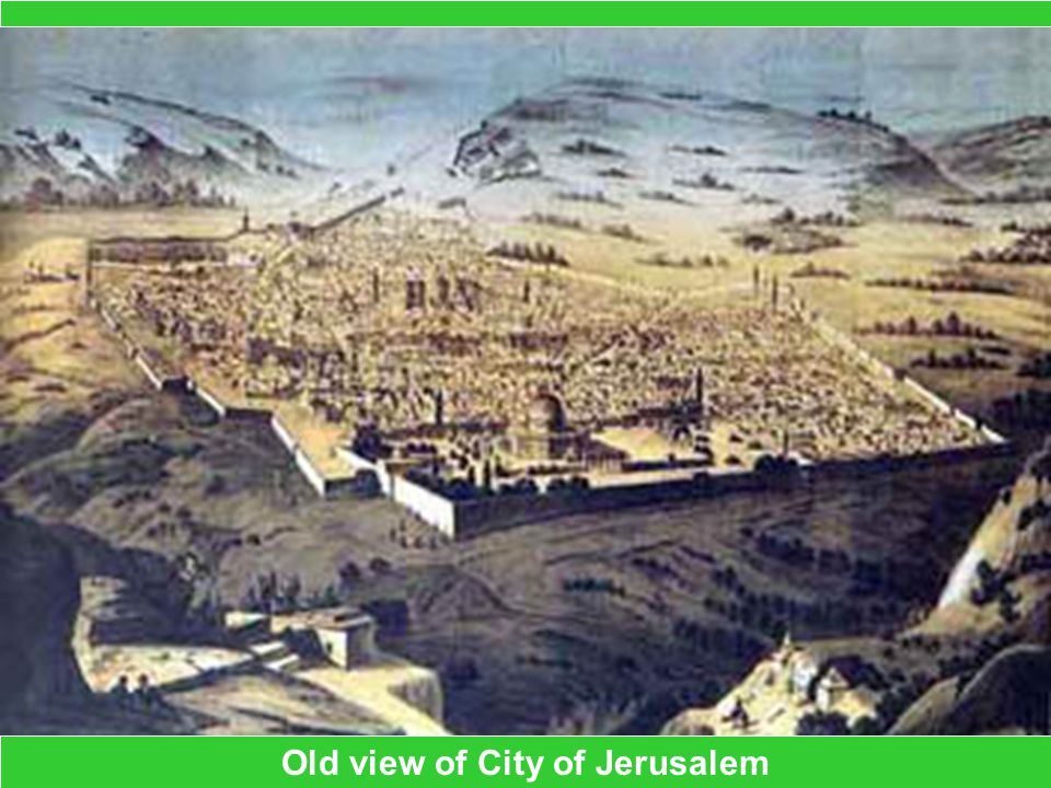Old view of City of Jerusalem