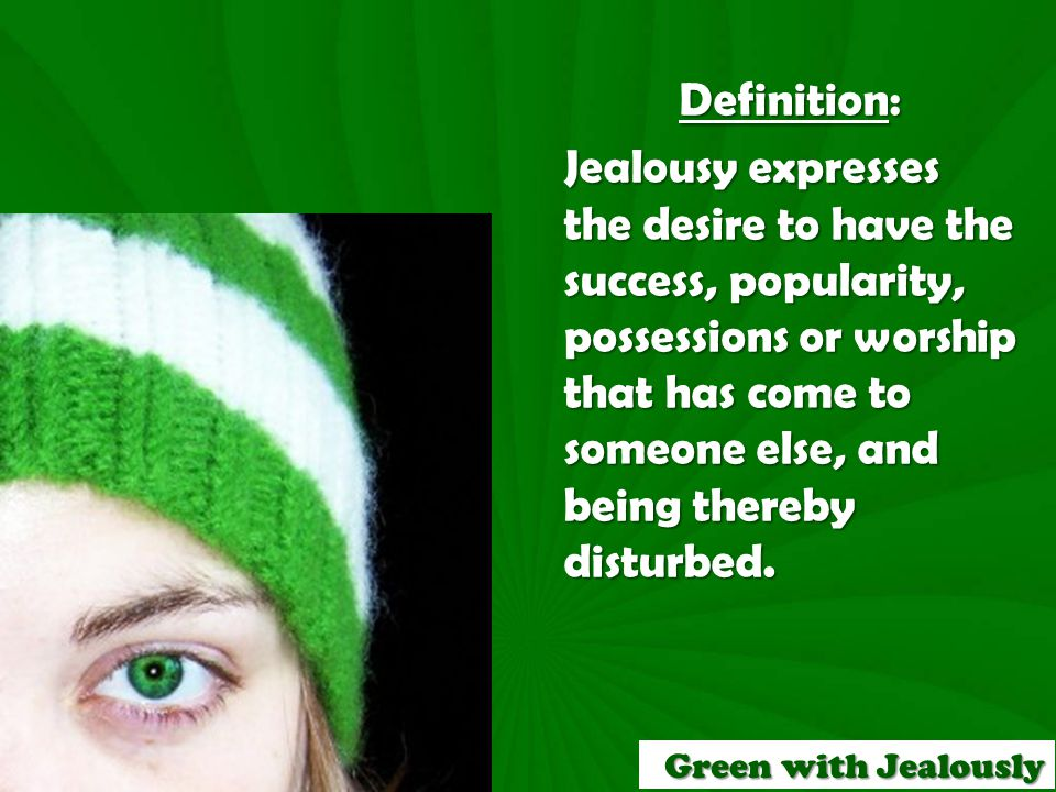 C.What is the remedy for jealousy. 1.