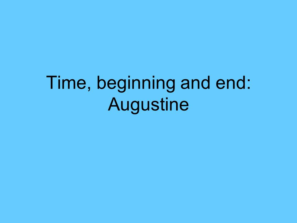 The kind of time that Augustine speaks of can be measured…INSIDE.