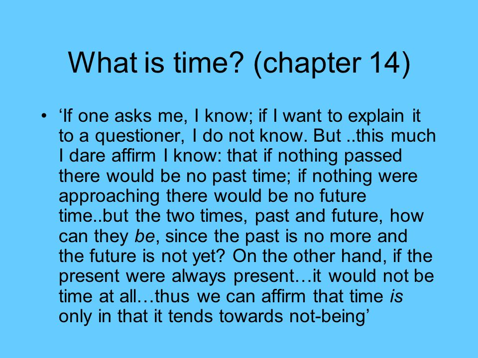 What is time.