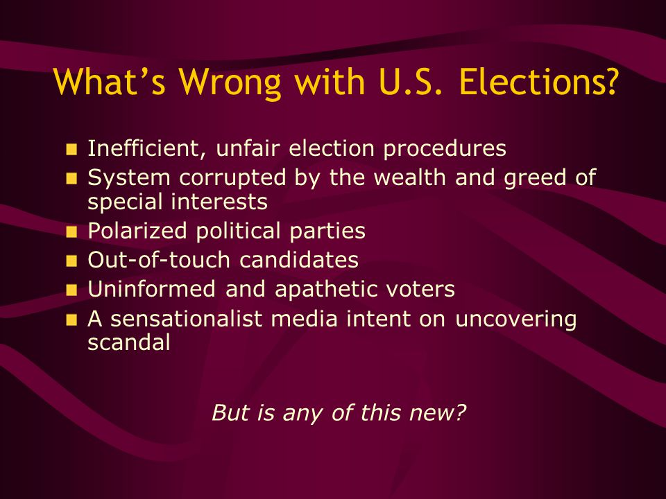 What's Wrong with U.S. Elections.