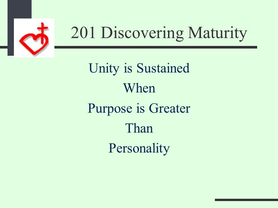 101 Membership 201 Maturity 301 Ministry 401 Mission