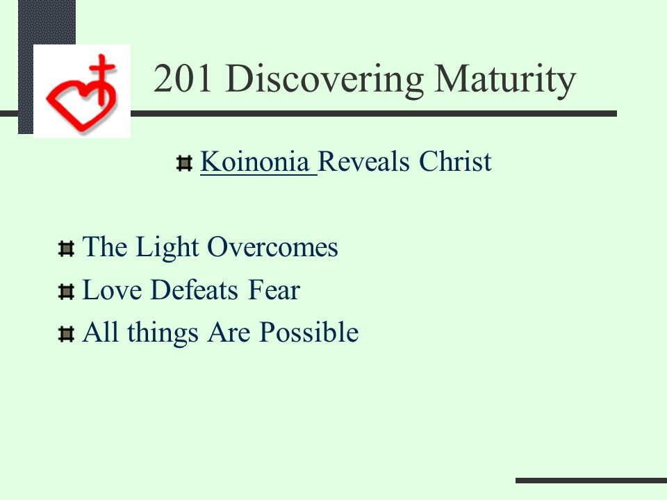 201 Discovering Maturity Unity Results in Multiplication