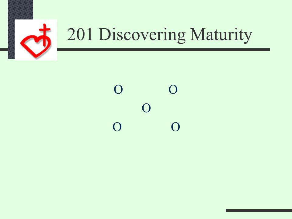 201 Discovering Maturity Maturity Multiplies Time  Prayer Talent  Ministry Treasure  Money