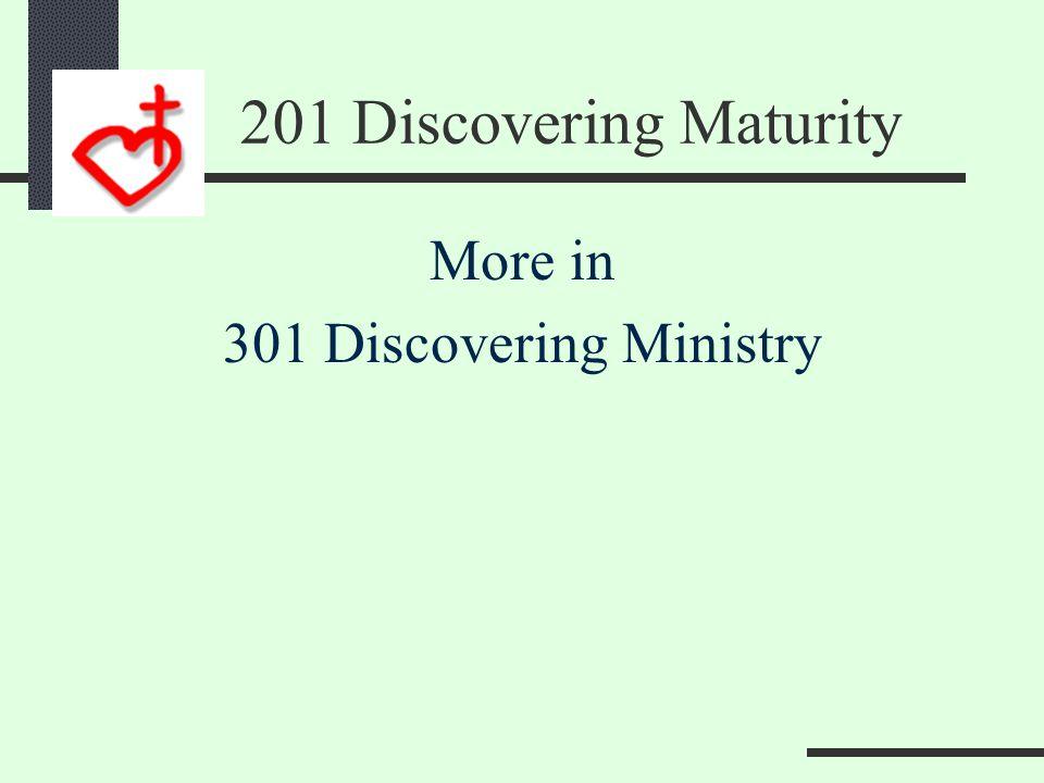 201 Discovering Maturity O O OO