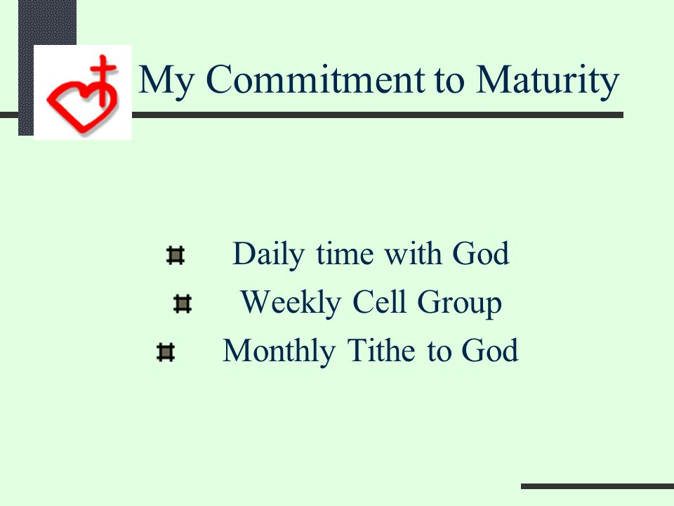 COSBT Discovering Membership Maturity Ministry Mission