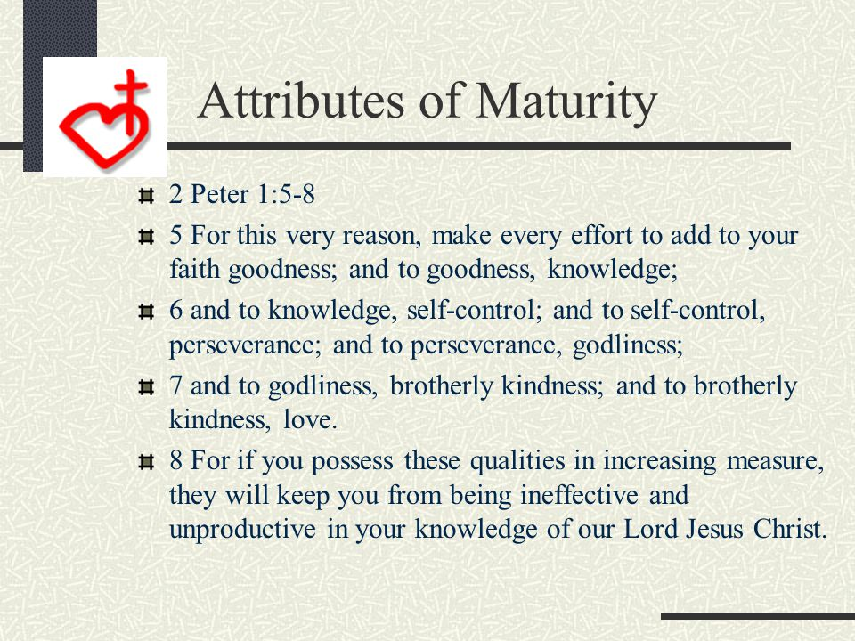 Move on to Maturity Heb 6:1-3 1 Therefore let us leave the elementary teachings about Christ and go on to maturity, not laying again the foundation of