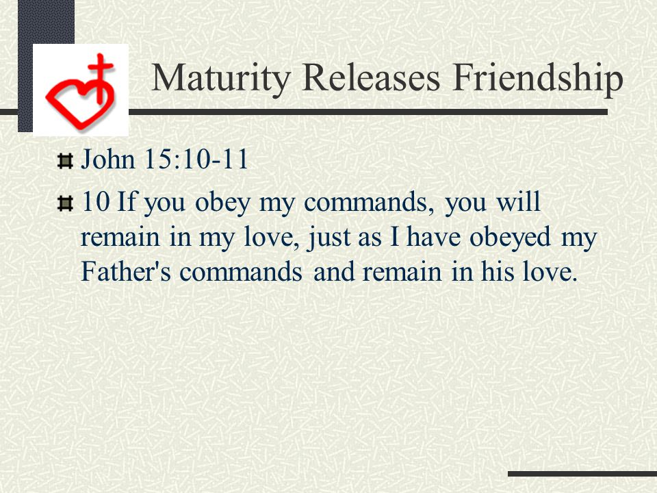 Maturity Calls Us to Fellowship 1 John 1:5-7 5 This is the message we have heard from him and declare to you: God is light; in him there is no darknes