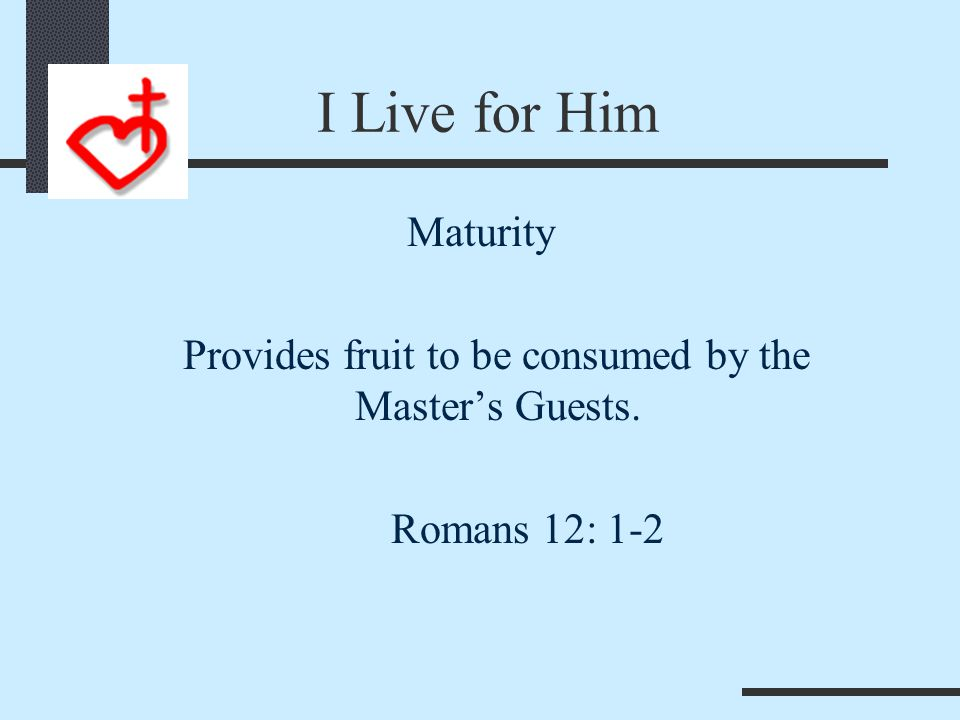 His Purpose is My Destiny Maturity Provides the New Wine for the Banquet of the Lord.