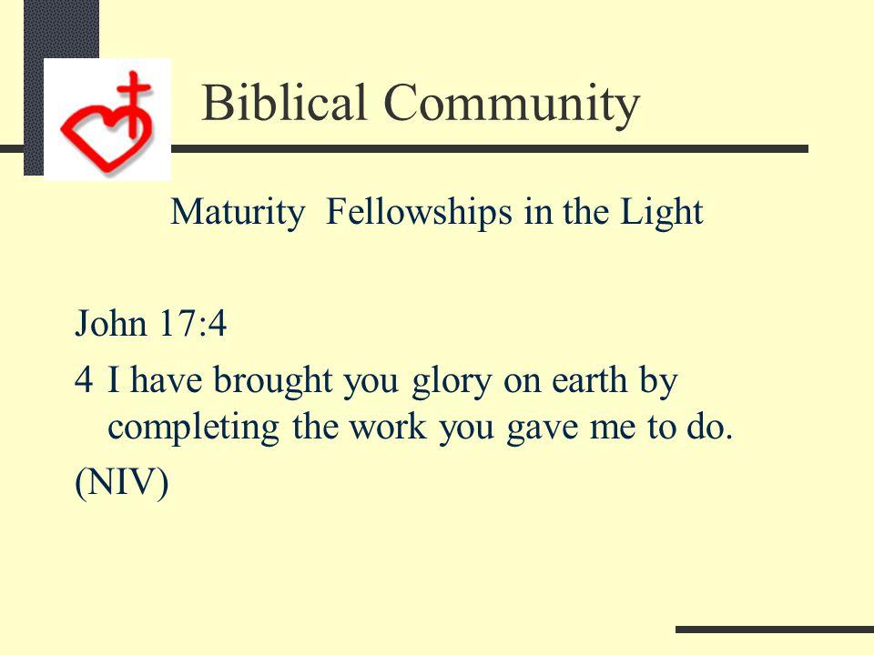 Maturity Glorifies the Father John 5:36 36 I have testimony weightier than that of John.