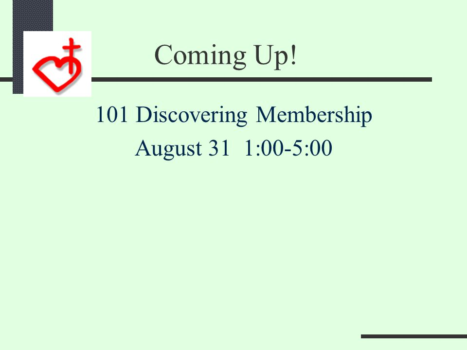 Coming Up! 301 Discovering Ministry Begins in 2 weeks!