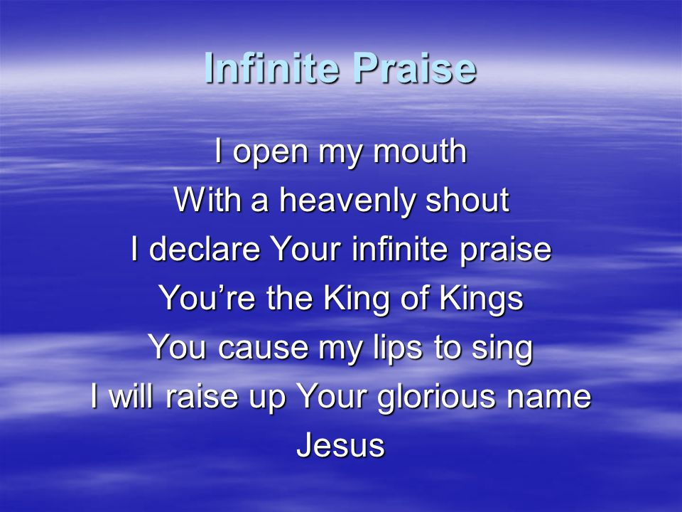 In The Name Of Jesus In the name of Jesus, In the name of Jesus We have the victory In the name of Jesus, In the name of Jesus Demons will have to flee (far away) When we stand on the name of Jesus When we stand on the name of Jesus Tell me who can stand before In the precious name of Jesus We have the Victory