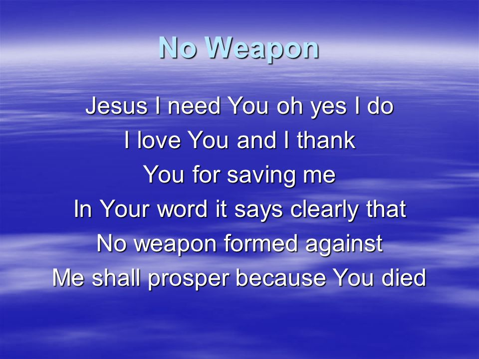 Nothing But The Blood What can wash away my sin Nothing but the blood of Jesus What can make me whole again Nothing but the blood of Jesus