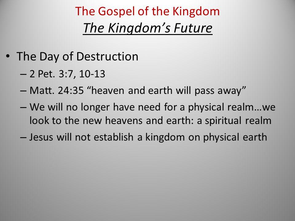 The Day of Destruction – 2 Pet. 3:7, 10-13 – Matt.