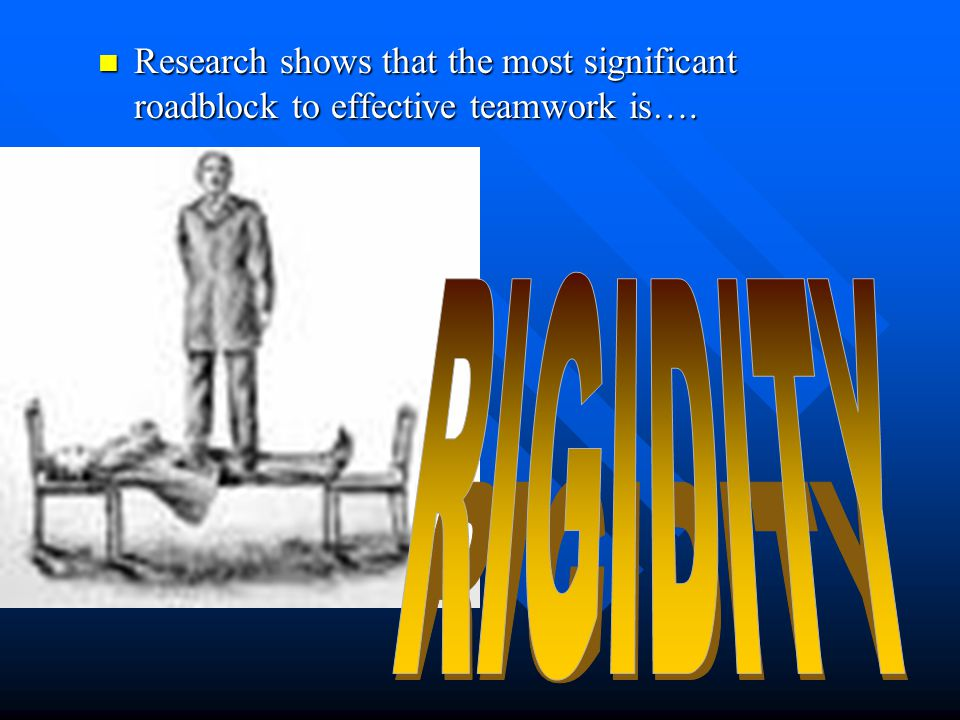 Research shows that the most significant roadblock to effective teamwork is….