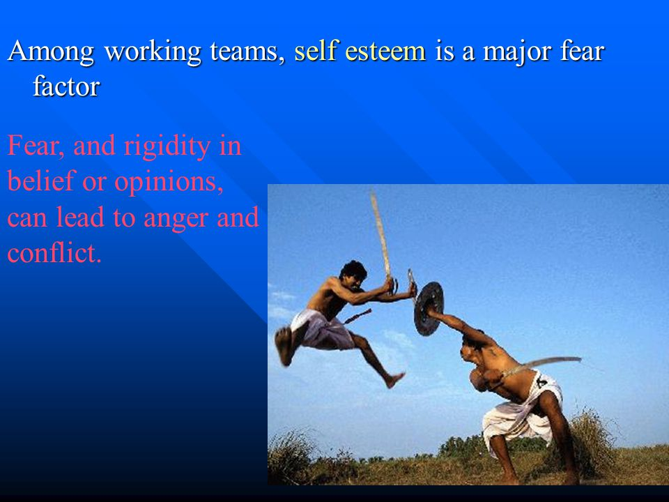 As a member of the team, or as a team leader, the goal is to avoid or eliminate conflict.
