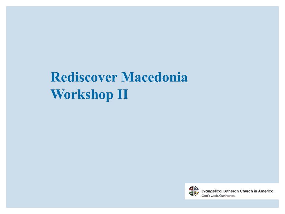 Rediscover Macedonia Workshop II